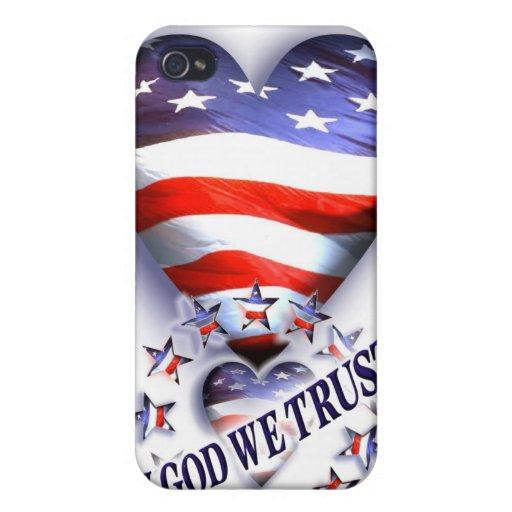 Patriotic In God we Trust iPhone 4/4S Case