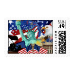 Patriotic Independence Day Postage Stamp