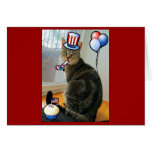 Patriotic Indigo Greeting Card