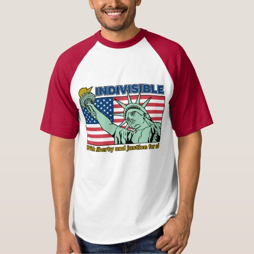 Patriotic-Indivisible-Liberty & Justice for All T-shirt