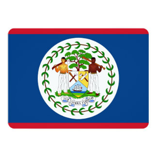 Patriotic invitations with Belize Flag