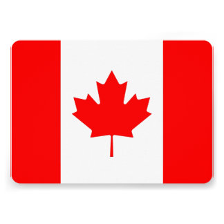 Patriotic invitations with Canada Flag Personalized Announcement
