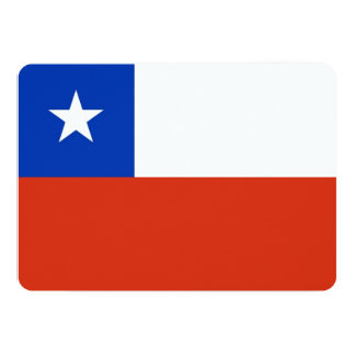 Patriotic invitations with Chile Flag