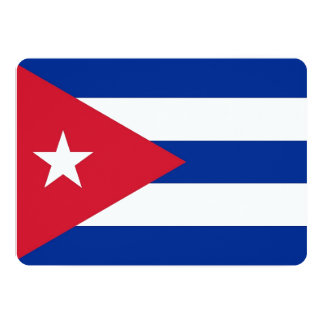 Patriotic invitations with Cuba Flag Cards