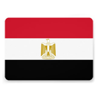 Patriotic invitations with Egypt Flag Invites