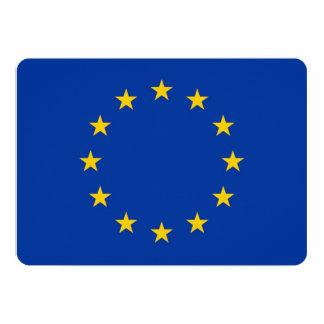 Patriotic invitations with European Union Flag Invites