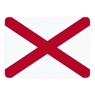 Patriotic invitations with Flag of Alabama, USA