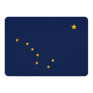 Patriotic invitations with Flag of Alaska, USA