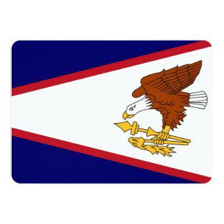 "Patriotic invitations with Flag of American Samoa 5"" X 7"" Invitation Card"