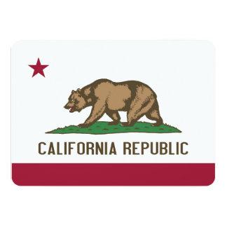 Patriotic invitations with Flag of California