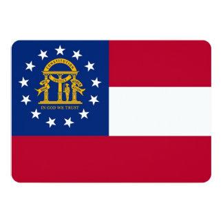 Patriotic invitations with Flag of Georgia