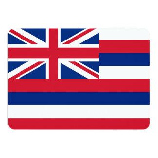Patriotic invitations with Flag of Hawaii