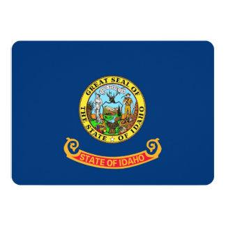 Patriotic invitations with Flag of Idaho