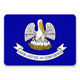 Patriotic invitations with Flag of Louisiana