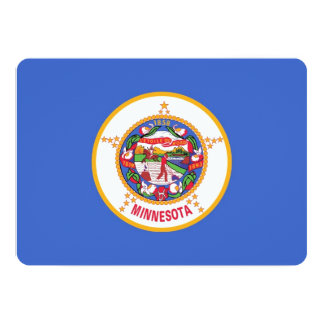 Patriotic invitations with Flag of Minnesota