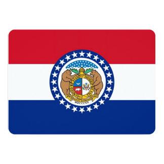 Patriotic invitations with Flag of Missouri