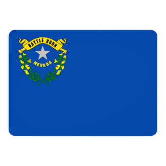Patriotic invitations with Flag of Nevada