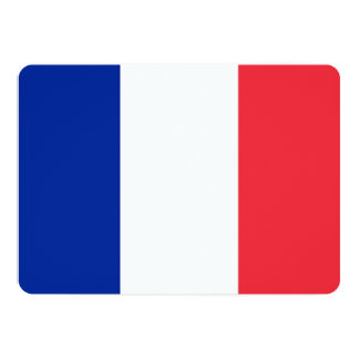 Patriotic invitations with France Flag