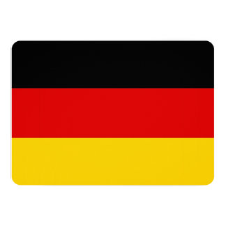 Patriotic invitations with Germany Flag