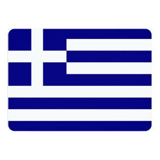 Patriotic invitations with Greece Flag Custom Invitations