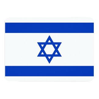 "Patriotic invitations with Israel Flag 5"" X 7"" Invitation Card"