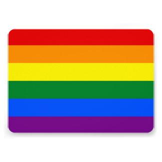 Patriotic invitations with LGBT Flag Custom Announcement