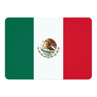 Patriotic invitations with Mexico Flag
