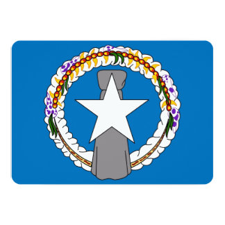 Patriotic invitations with Northern Mariana Flag