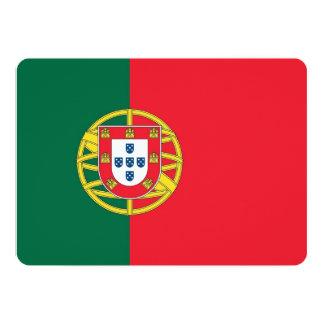 Patriotic invitations with Portugal Flag