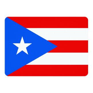 Patriotic invitations with Puerto Rico Flag