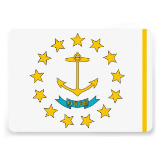 Patriotic invitations with Rhode Island Flag