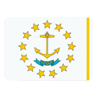 "Patriotic invitations with Rhode Island Flag 5"" X 7"" Invitation Card"