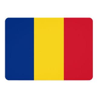 Patriotic invitations with Romania Flag