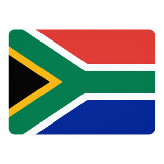 Patriotic invitations with South Africa Flag