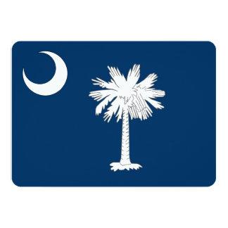 Patriotic invitations with South Carolina Flag