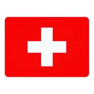 Patriotic invitations with Switzerland Flag
