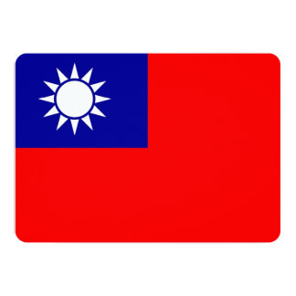 Patriotic invitations with Taiwan Flag