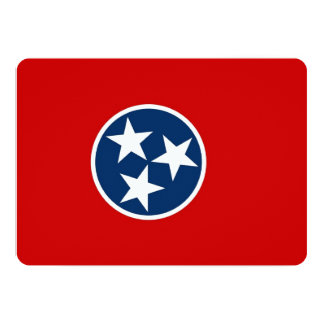 Patriotic invitations with Tennessee Flag