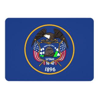Patriotic invitations with Utah Flag