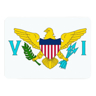 Patriotic invitations with Virgin Islands Flag
