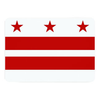 Patriotic invitations with Washington DC Flag