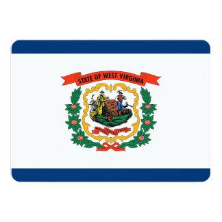 Patriotic invitations with West Virginia Flag