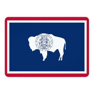 Patriotic invitations with Wyoming Flag