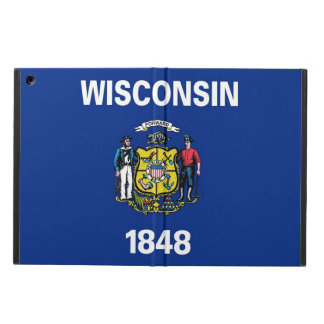 Patriotic ipad case with Flag of Wisconsin