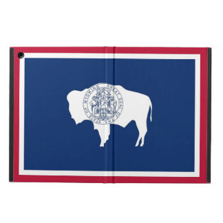 Patriotic ipad case with Flag of Wyoming