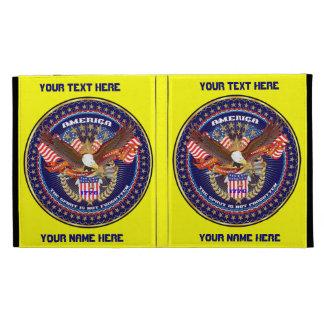 Patriotic iPad Folio View Notes Please iPad Case
