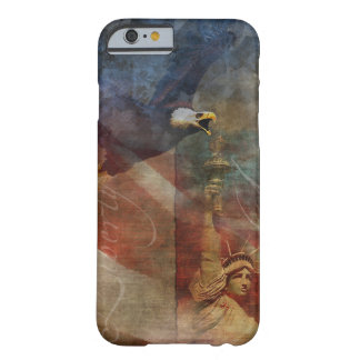 Patriotic iPhone 6 Shell with Bald Eagle Art Barely There iPhone 6 Case