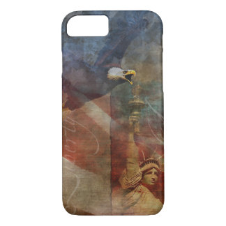 Patriotic iPhone 7 Shell with Bald Eagle Art iPhone 8/7 Case