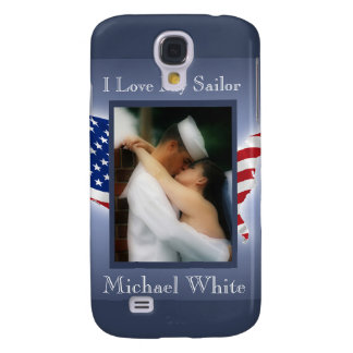 Patriotic iPhone Case/Cover - I Love My Sailor Galaxy S4 Covers