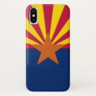 Patriotic Iphone X Case with Flag of Arizona